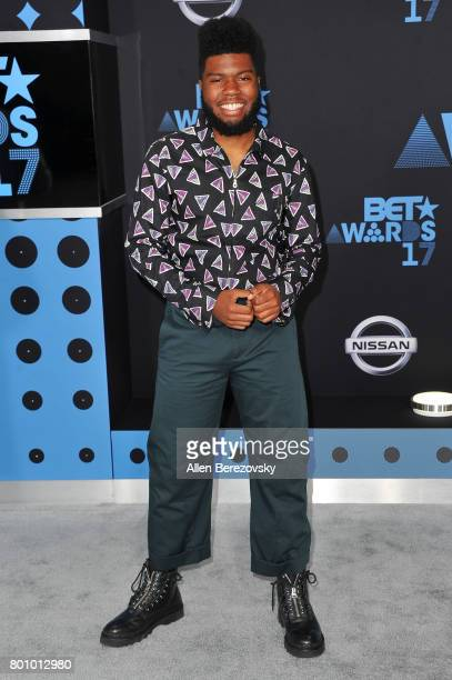 Singer Khalid arrives at the 2017 BET Awards at Microsoft Theater on June 25 2017 in Los Angeles California