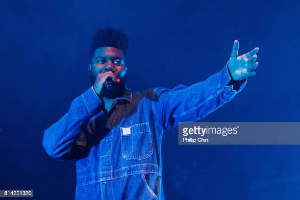 Singer Khalid performs on stage at the PNE Forum on July 13 2017 in Vancouver Canada