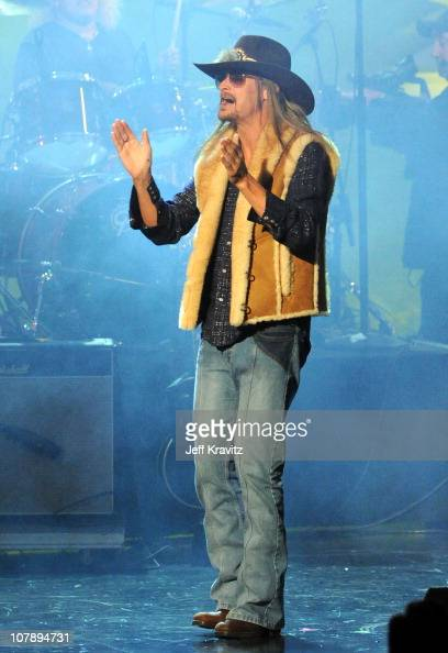 Singer Kid Rock performs onstage during the 2011 People's Choice Awards at Nokia Theatre LA Live on January 5 2011 in Los Angeles California
