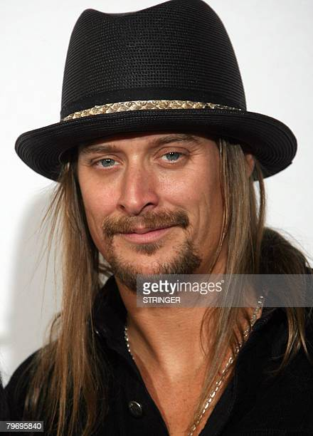 Singer Kid Rock poses at the 50th Grammy Awards in Los Angeles on February 10 2008 AFP PHOTO/Valerie MACON