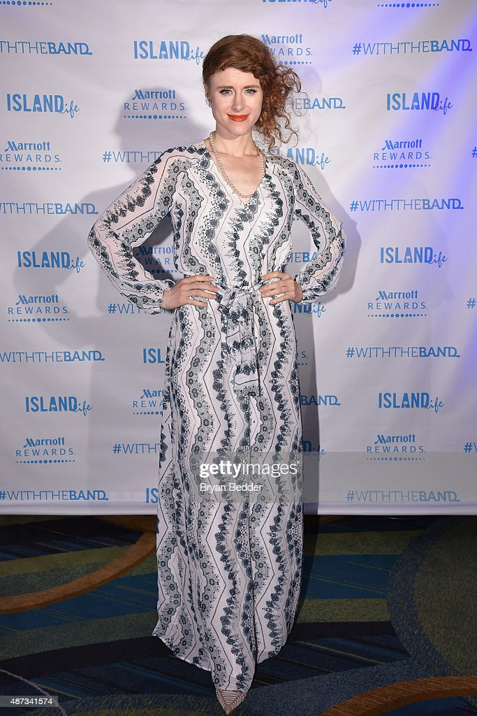Singer Kiesza attends the Island Records and Marriott Rewards after party for ISLAND LIFE featuring Nick Jonas, Shawn Mendes, American Authors, Kiesza and Timeflies with host Keke Palmer, and special guest DJs Ansolo and Sam Feldt at Best Buy Theater on September 8, 2015 in New York City.