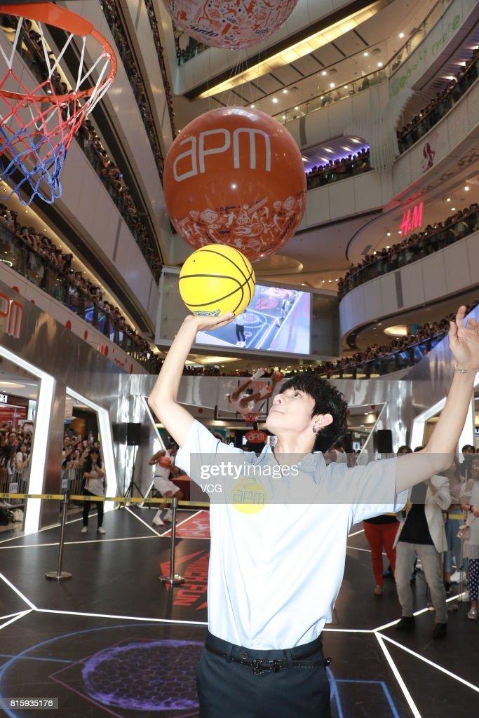 Singer Kim Samuel meets fans at apm shopping mall on July 16, 2017 in Hong Kong, Hong Kong.