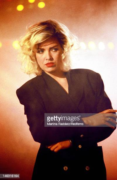 singer Kim Wilde performs live on stage in Germany circa 1988