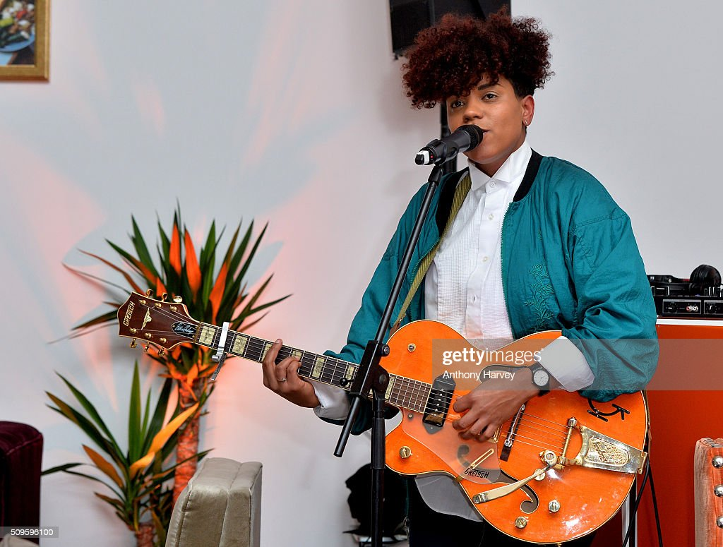 Singer Kimberley Anne performs at the Moving Feast pop-up brought to you by Take Eat Easy at Protein on February 11, 2016 in London, England.