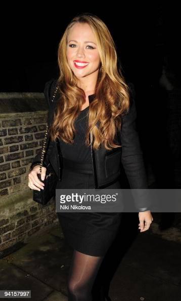 Singer Kimberley Walsh is seen on December 8 2009 in London England
