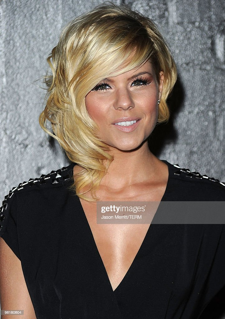 Singer Kimberly Caldwell arrives at Star Magazine's Young Hollywood Issue launch party held at Voyeur on March 31 2010 in West Hollywood California