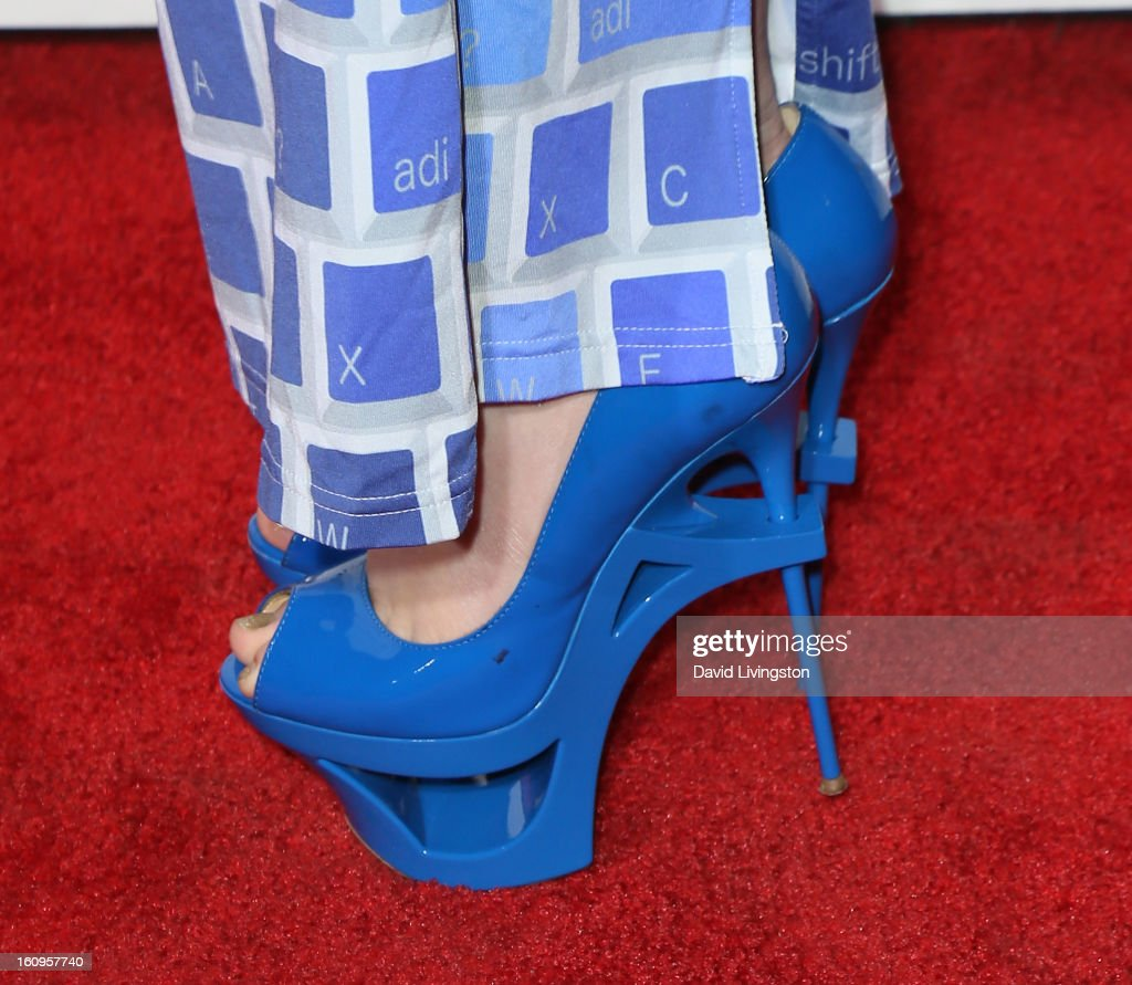 Singer Kimberly Cole (shoe detail) attends the 2nd Annual will.i.am TRANS4M Boyle Heights benefit concert at Avalon on February 7, 2013 in Hollywood, California.