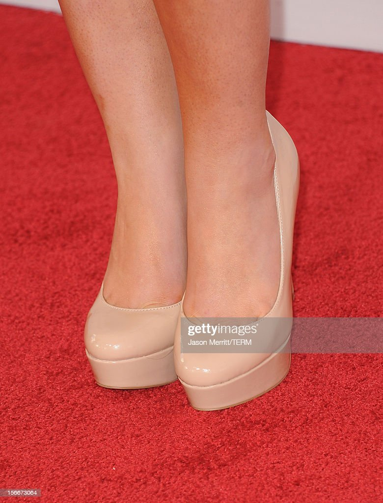 Singer Kimberly Cole (shoe detail) attends the 40th American Music Awards held at Nokia Theatre L.A. Live on November 18, 2012 in Los Angeles, California.