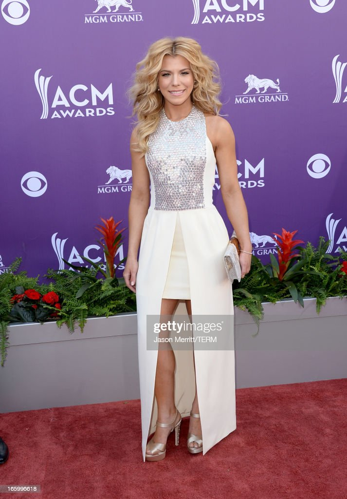 Singer Kimberly Perry arrives at the 48th Annual Academy of Country Music Awards at the MGM Grand Garden Arena on April 7, 2013 in Las Vegas, Nevada.