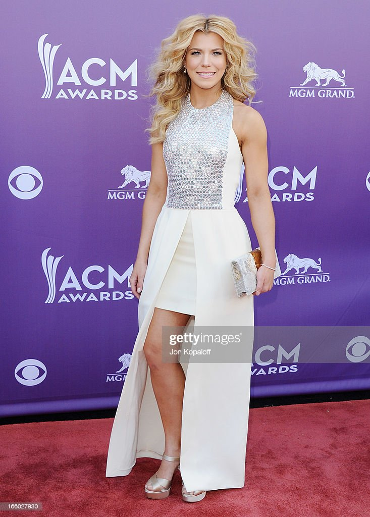Singer Kimberly Perry of The Band Perry arrives at the 48th Annual Academy Of Country Music Awards at MGM Grand Garden Arena on April 7, 2013 in Las Vegas, Nevada.