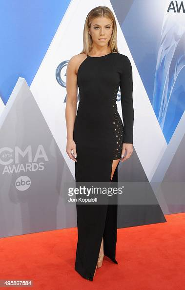 Singer Kimberly Perry of The Band Perry attends the 49th annual CMA Awards at the Bridgestone Arena on November 4 2015 in Nashville Tennessee