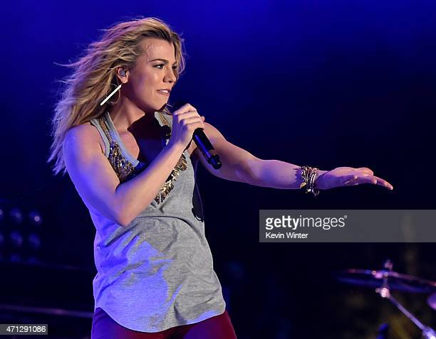 Singer Kimberly Perry of The Band Perry performs onstage during day three of 2015 Stagecoach California's Country Music Festival at The Empire Polo...