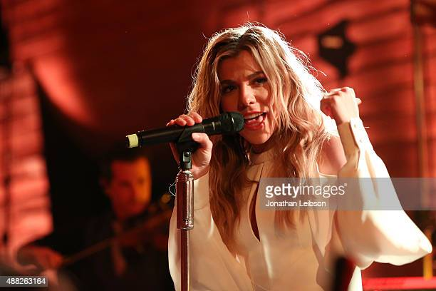 Singer Kimberly Perry of The Group Perry performs at the closing night reception at Antinori nel Chianti Classico winery during 2015 Celebrity Fight...