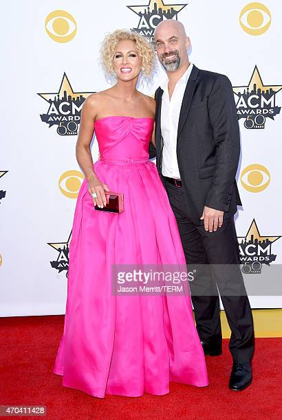 Singer Kimberly Schlapman of Little Big Town and Stephen Schlapman attend the 50th Academy of Country Music Awards at ATT Stadium on April 19 2015 in...