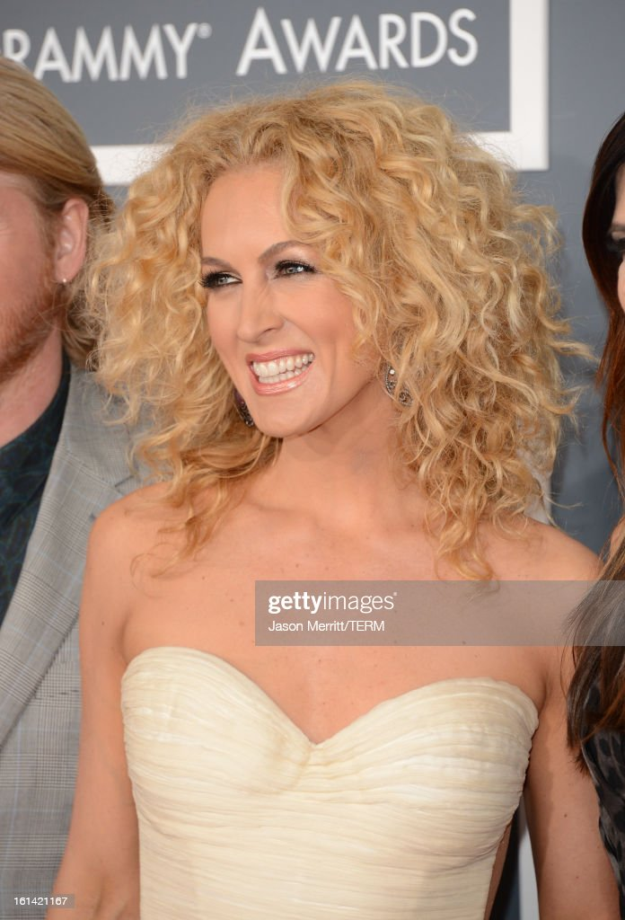 Singer Kimberly Schlapman of Little Big Town arrives at the 55th Annual GRAMMY Awards at Staples Center on February 10, 2013 in Los Angeles, California.