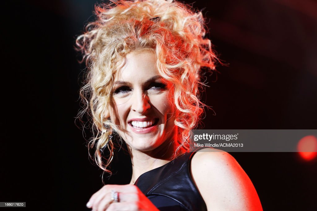 Singer Kimberly Schlapman of Little Big Town performs onstage at the All Star Jam during the 48th Annual Academy Of Country Music Awards at the MGM Grand Hotel/Casino on April 7, 2013 in Las Vegas, Nevada.