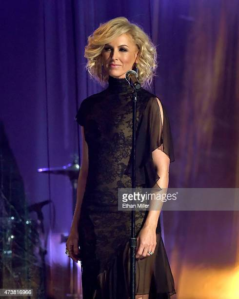 Singer Kimberly Schlapman of Little Big Town performs onstage during the 2015 Billboard Music Awards at MGM Grand Garden Arena on May 17 2015 in Las...