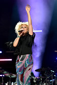 Singer Kimberly Schlapman of Little Big Town performs onstage during 2016 CMA Festival Day 4 at Nissan Stadium on June 12 2016 in Nashville Tennessee