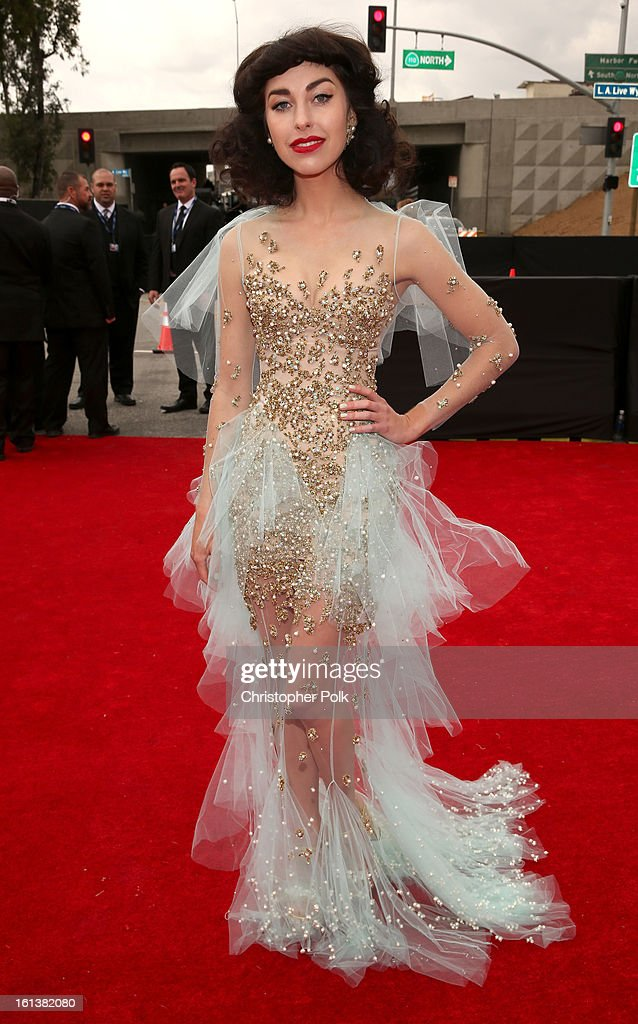 Singer Kimbra attends the 55th Annual GRAMMY Awards at STAPLES Center on February 10, 2013 in Los Angeles, California.