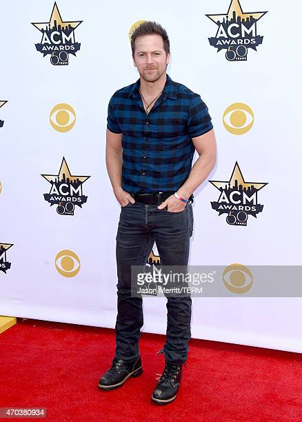 Singer Kip Moore attends the 50th Academy of Country Music Awards at ATT Stadium on April 19 2015 in Arlington Texas