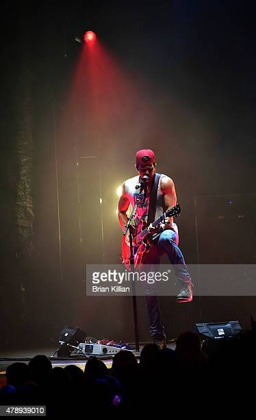 Singer Kip Moore performs at the Susquehanna Bank Center on June 28 2015 in Camden New Jersey