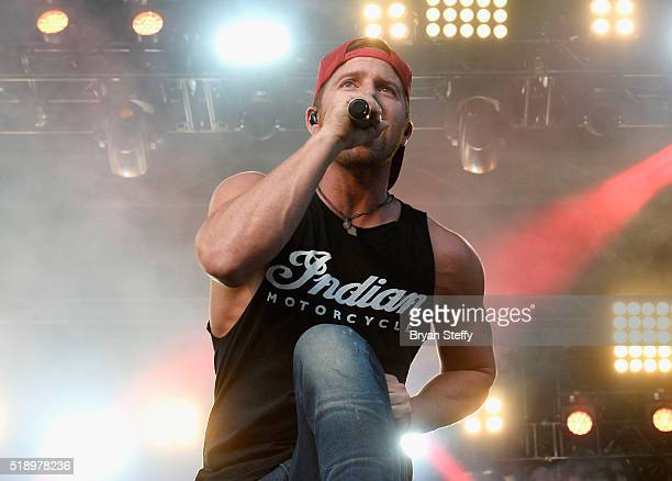 Singer Kip Moore performs onstage during the 4th ACM Party For A Cause Festival at the Las Vegas Festival Grounds on April 3 2016 in Las Vegas Nevada