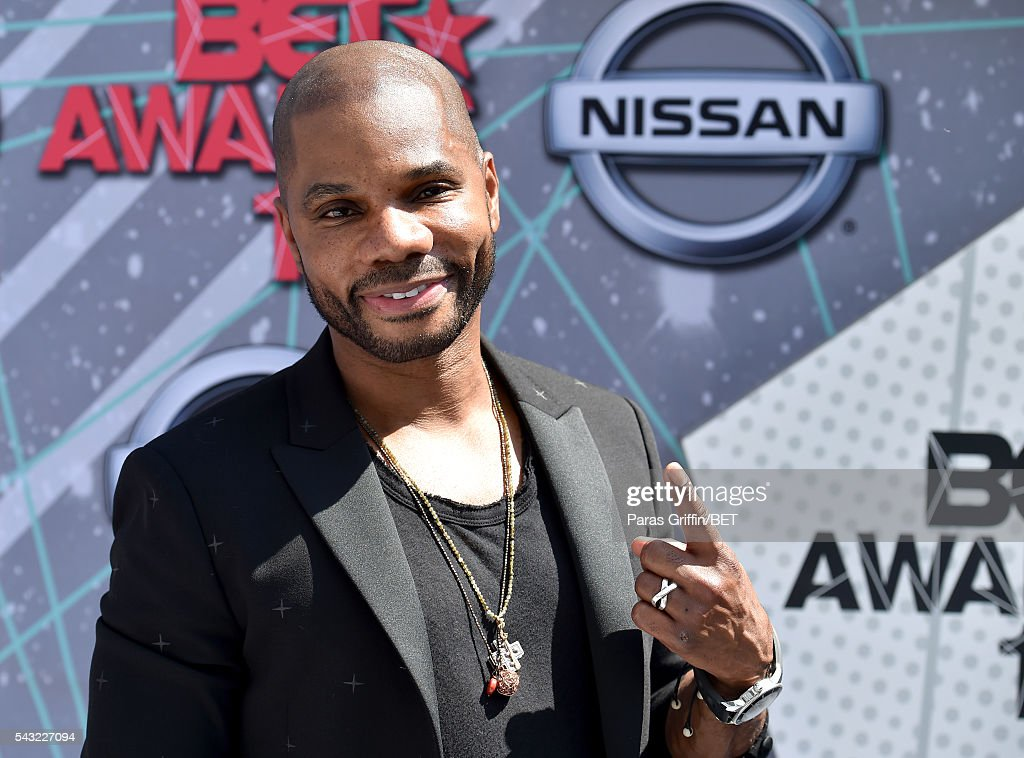 Singer <a gi-track='captionPersonalityLinkClicked' href=/galleries/search?phrase=Kirk+Franklin&family=editorial&specificpeople=779291 ng-click='$event.stopPropagation()'>Kirk Franklin</a> attends the 2016 BET Awards at the Microsoft Theater on June 26, 2016 in Los Angeles, California.