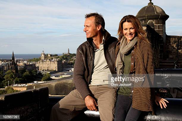 Singer Kirsty Bertarelli poses for a photograph with her husband Ernesto Bertarelli in Edinburgh ahead of her performance on Sunday night supporting...