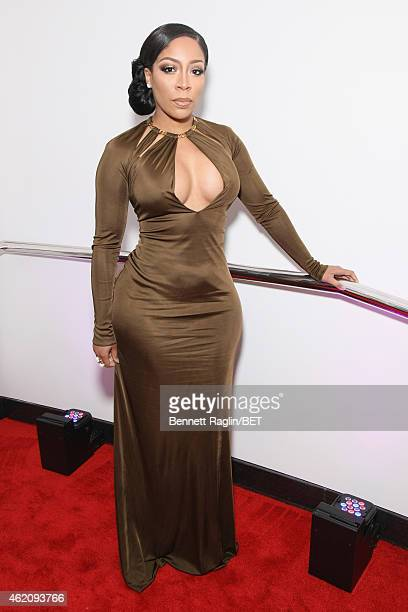 Singer KMichelle attends 'The BET Honors' 2015 at Warner Theatre on January 24 2015 in Washington DC