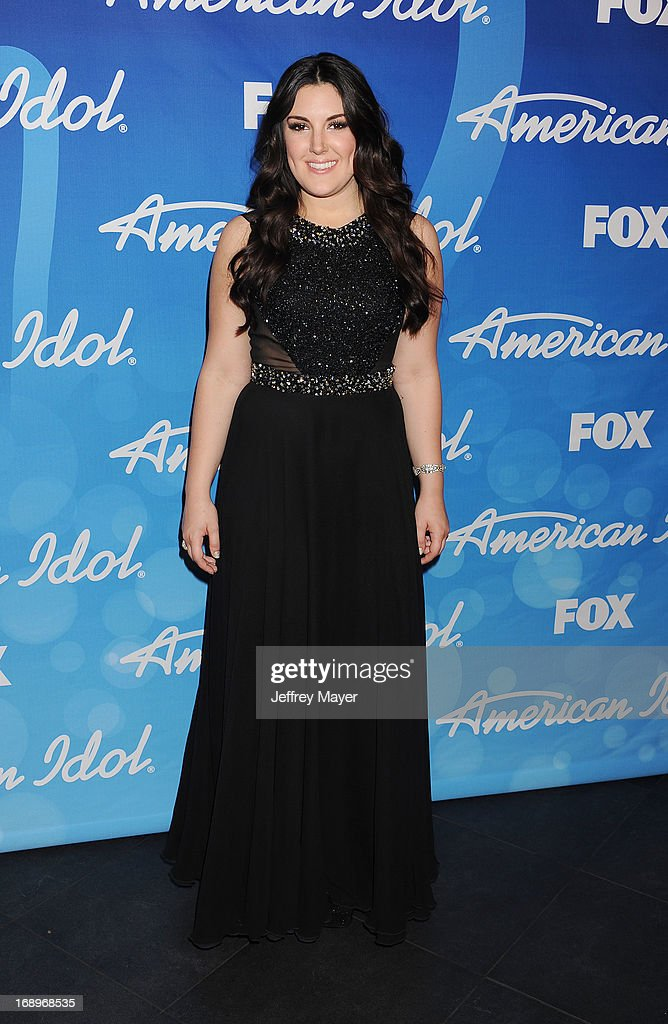 Singer Kree Harrison poses in the press room at FOX's 'American Idol' Grand Finale at Nokia Theatre L.A. Live on May 16, 2013 in Los Angeles, California.