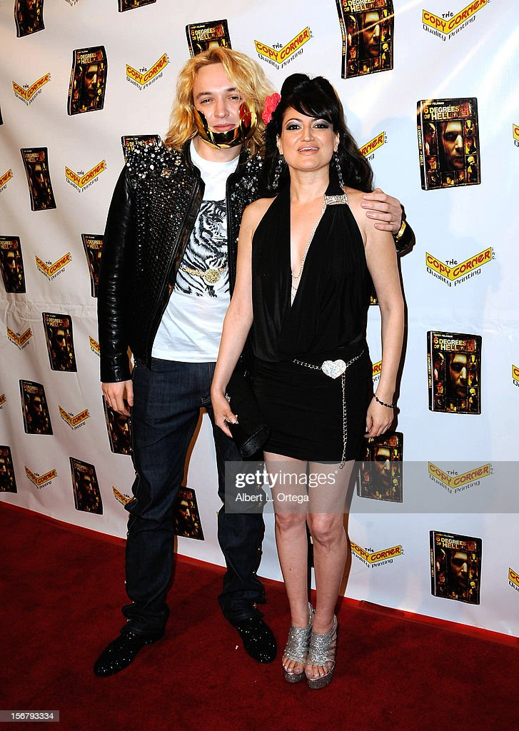 Singer Kuba Ka and personality Vikki Lizzi arrive Premiere Of '6 Degrees Of Hell' - Arrivals held at Laemmle Music Hall 3 on November 20, 2012 in Beverly Hills, California.