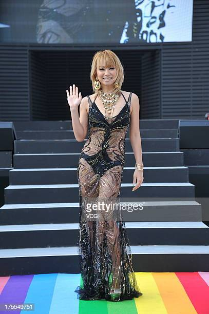 Singer Kumi Koda attends 'anation' summer concerts opening ceremony at Yoyogi National First Gymnasium on August 3 2013 in Tokyo Japan