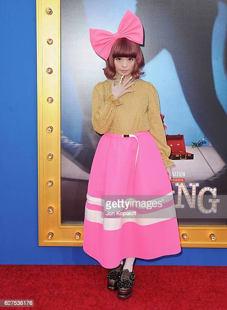 Singer Kyary Pamyu Pamyu arrives at the Los Angeles Premiere 'Sing' at the Microsoft Theater on December 3 2016 in Los Angeles California