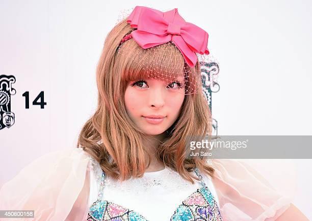 Singer Kyary Pamyu Pamyu arrives for the red carpet of MTV Video Music Awards Japan 2014 at Maihama Amphitheater on June 14 2014 in Urayasu Japan