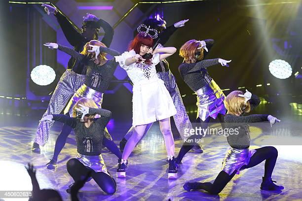 Singer Kyary pamyu pamyu performs onstage during MTV Video Music Awards Japan 2014 at Maihama Amphitheater on June 14 2014 in Urayasu Japan