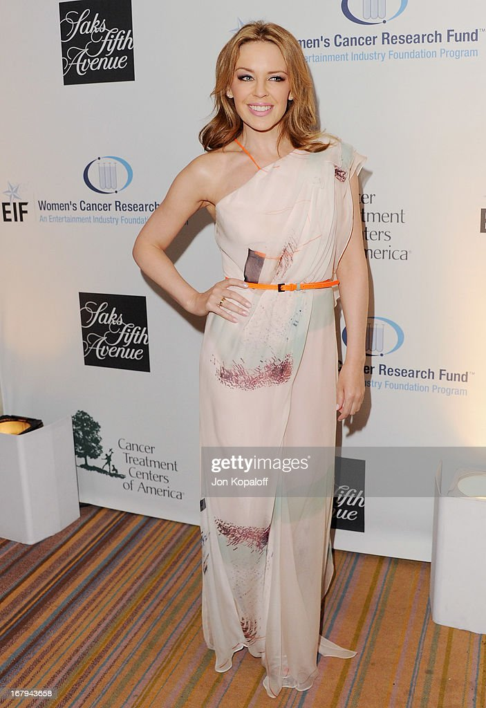Singer Kylie Minogue arrives at An Unforgettable Evening benefiting EIF's Women's Cancer Research Fund at the Beverly Wilshire Four Seasons Hotel on May 2, 2013 in Beverly Hills, California.
