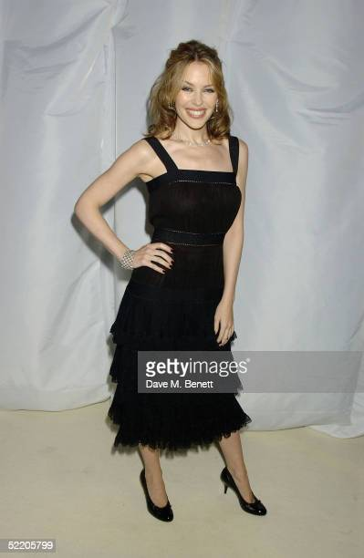 Singer Kylie Minogue arrives at the Elle Style Awards 2005 at Spitalfields Market on February 15 2005 in London The fashion magazine's annual awards...
