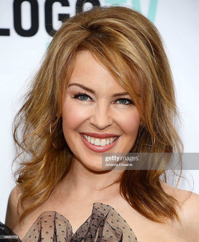 Singer <a gi-track='captionPersonalityLinkClicked' href=/galleries/search?phrase=Kylie+Minogue&family=editorial&specificpeople=201671 ng-click='$event.stopPropagation()'>Kylie Minogue</a> arrives at the Logo NewNowNext Awards 2013 at The Fonda Theatre on April 13, 2013 in Los Angeles, California.