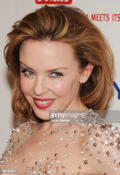 Singer Kylie Minogue attends DKMS' 4th Annual Gala Linked Against Leukemia at Cipriani 42nd Street on April 29 2010 in New York City