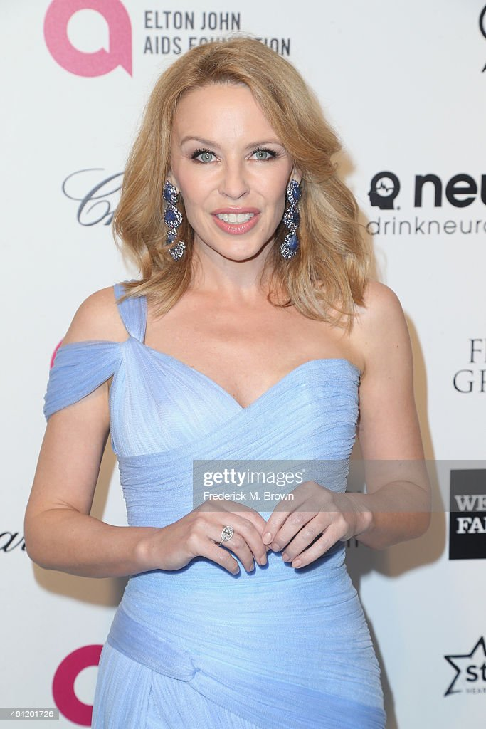 Singer <a gi-track='captionPersonalityLinkClicked' href=/galleries/search?phrase=Kylie+Minogue&family=editorial&specificpeople=201671 ng-click='$event.stopPropagation()'>Kylie Minogue</a> attends the 23rd Annual Elton John AIDS Foundation's Oscar Viewing Party on February 22, 2015 in West Hollywood, California.