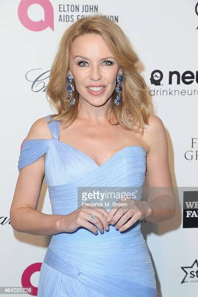 Singer Kylie Minogue attends the 23rd Annual Elton John AIDS Foundation's Oscar Viewing Party on February 22 2015 in West Hollywood California