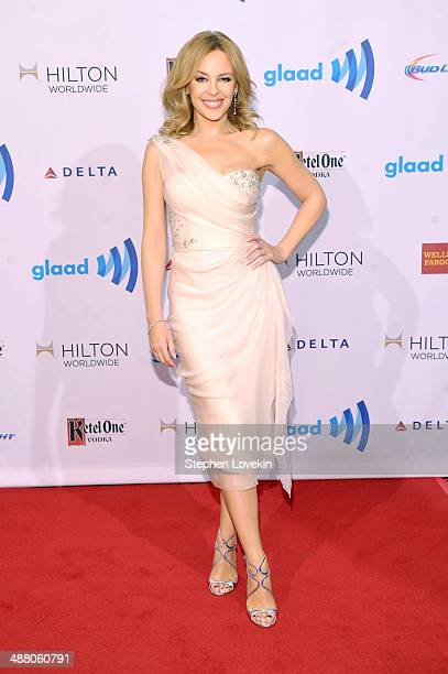 Singer Kylie Minogue attends the 25th Annual GLAAD Media Awards on May 3 2014 in New York City
