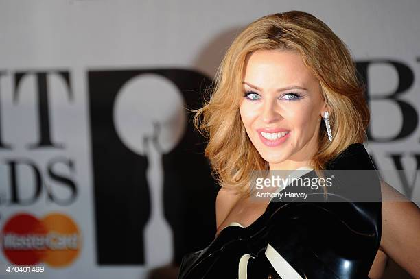 Singer Kylie Minogue attends The BRIT Awards 2014 at 02 Arena on February 19 2014 in London England