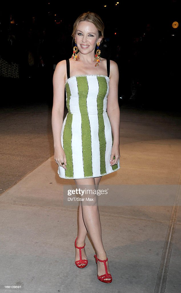 Singer <a gi-track='captionPersonalityLinkClicked' href=/galleries/search?phrase=Kylie+Minogue&family=editorial&specificpeople=201671 ng-click='$event.stopPropagation()'>Kylie Minogue</a> seen on May 4, 2013 in New York City.
