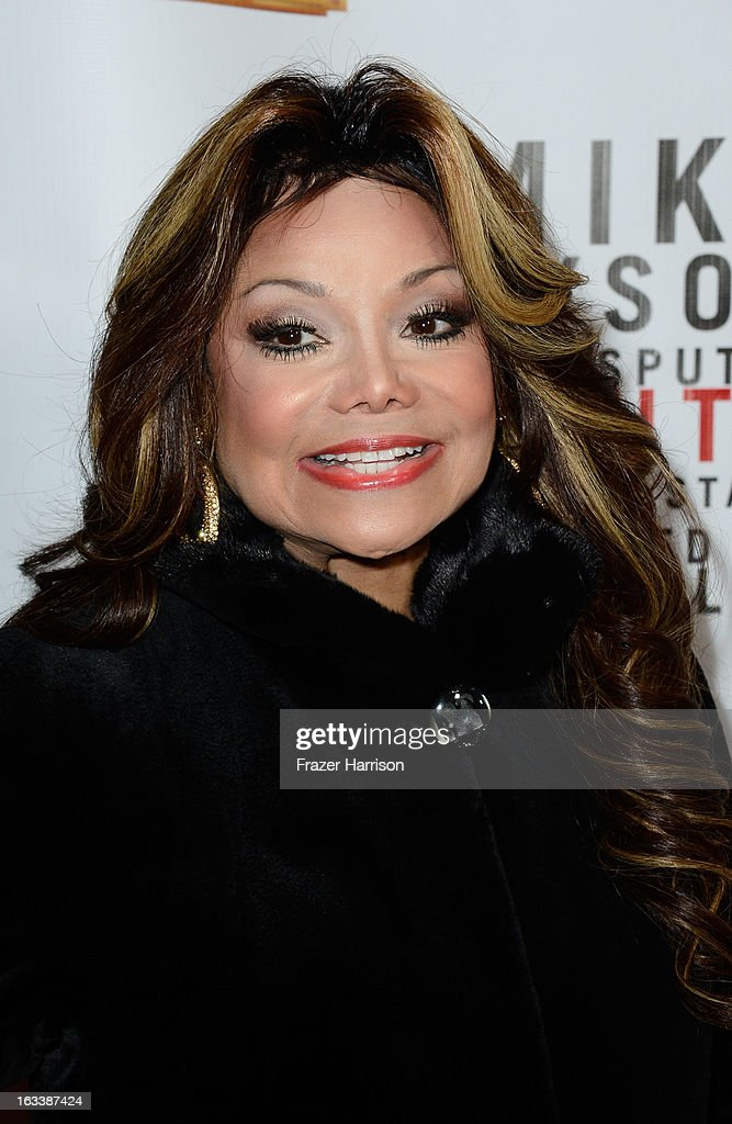 Singer La Toya Jackson arrives at the opening Night Of 'Mike Tyson: Undisputed Truth' At The Pantages Theatre at the Pantages Theatre on March 8, 2013 in Hollywood, California.