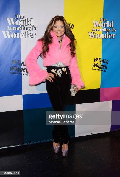Singer La Toya Jackson arrives at the World Of Wonder book release party/birthday bash at The Globe Theatre at Universal Studios on December 13 2012...