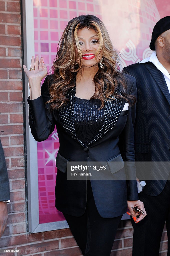 Singer La Toya Jackson leaves the 'Wendy Williams Show' taping at AMV Studios on February 23 2012 in New York City