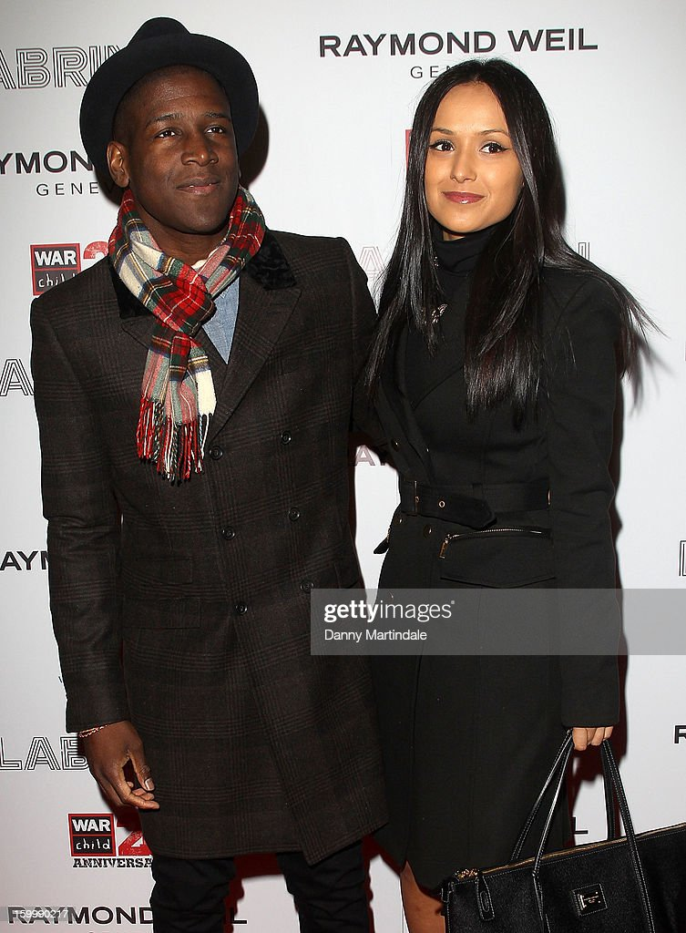 Singer Labyrinth and guest attend the Raymond Weil pre-Brit Awards dinner and 20th anniversary celebration of War Child at The Mosaica on January 24, 2013 in London, England.
