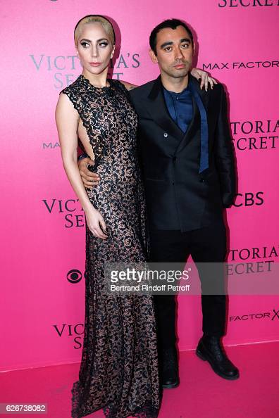 Singer Lady Gaga and Nicola Formichetti attend the 2016 Victoria's Secret Fashion Show Held at Grand Palais on November 30 2016 in Paris France