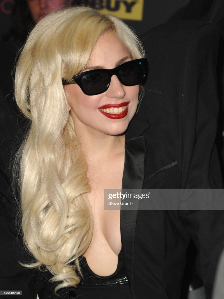 Singer Lady Gaga appears at In-Store Appearance at Best Buy on November 23, 2009 in Los Angeles, California.
